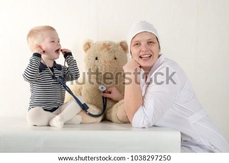 Very cute boys having fun at the office