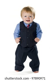 Happy dressed-up toddler