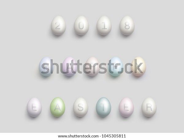 Happy Easter 2018. Beautiful Holiday background.