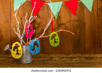 happy Easter card. festive composition