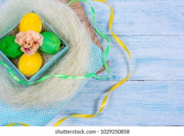 Happy Easter,Easter decoration with eggs,Festival Easter
