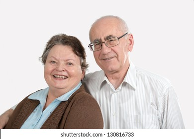 happy elderly family, man and woman, smiling