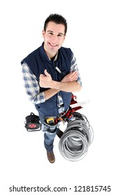 happy electrician
