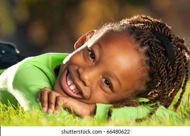 Happy Face of African American girl