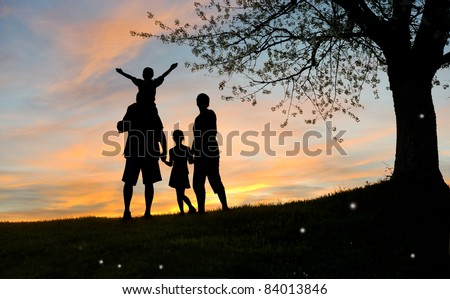 Happy Family Father Mother Son Daughter Stock Photo Edit Now