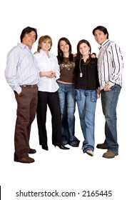 Happy Family - full bodies over a white background