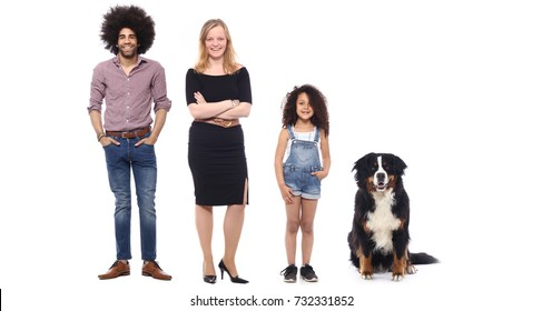 16a20da11432 Smiling young man posing with a retriever dog isolated on white background.  Edit. Artist. Similar. Save. Happy family full body