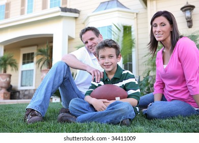 A happy family having fun at  home (Focus on Boy)
