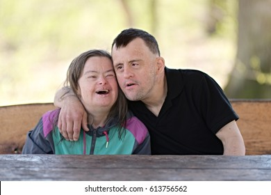 Happy family moments - down syndrome couple
