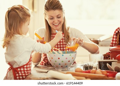 Happy family moments. Selective focus on a dish.