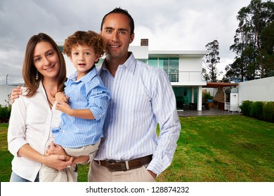 Happy Family at new big house