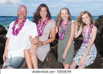 Happy Family together at the beach