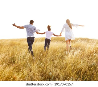 Happy family  together bonding outdoors