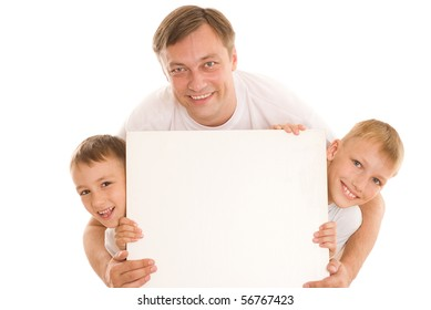 happy family together on a white background