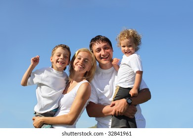 Happy family with two children. Many happy families search in my portfolio