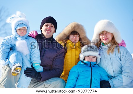 48a2fc442 Happy Family Warm Winter Clothes Against Stock Photo (Edit Now ...