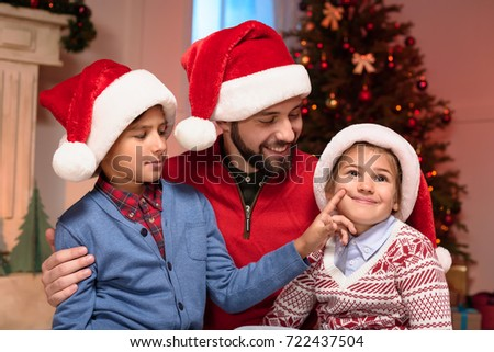 193c474d6a884 Happy Father Cute Little Kids Wearing Stock Photo (Edit Now ...