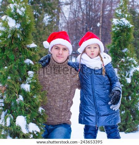 7c6ca74625a59 Happy Father Kid Santa Hats Christmas Stock Photo (Edit Now ...