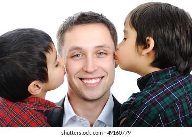 Happy fatherhood and childhood