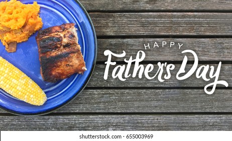 Happy Father's Day Grilled Food Graphic