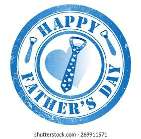 happy fathers day stamp, in english language
