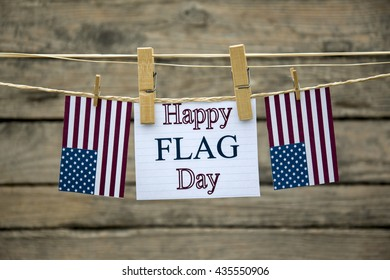 Happy flag day greeting card or background.