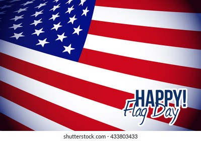 happy flag day us flag background illustration design graphic
