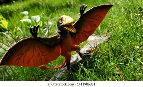 A happy flying retile Pteranodon