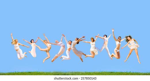 Happy Friends Symbolic Illustration