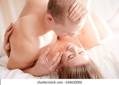 Happy fulfilled couple after exciting satisfying sexual intercourse