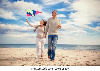 happy funny carefree couple enjoying freetime