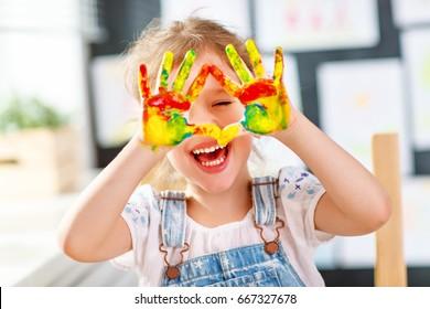 kids painted hands images stock photos vectors shutterstock