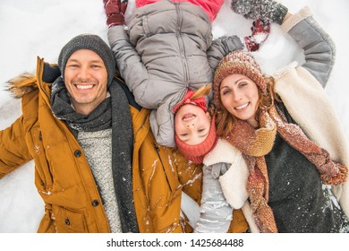 happy funny winter family action