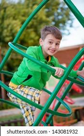 Happy games - pretty boy on the playground