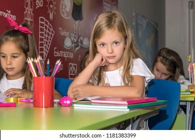 Happy girl at elementary school