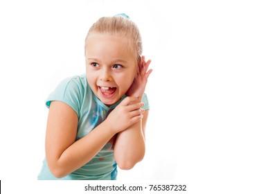 Happy girl heard the good news