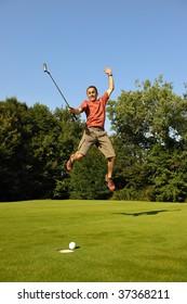 A happy golfer