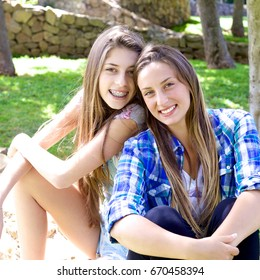 Happy gorgeous fresh smiling teenagers