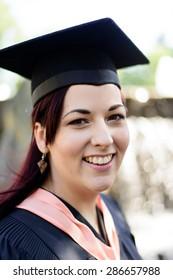 Happy graduating women