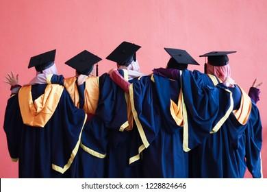 Happy graduation day concept