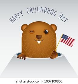 Happy Groundhog Day with Groundhog Raster