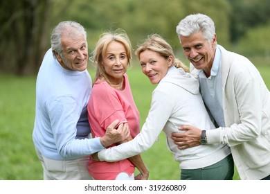 Happy group of senior people