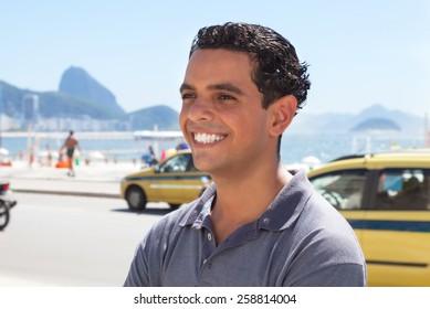 Happy guy at Rio de Janeiro