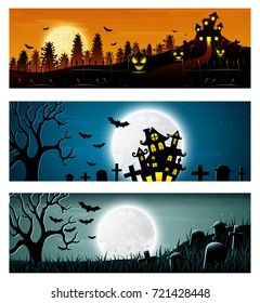 Happy Halloween banner set