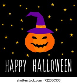Happy Halloween Card Template. Abstract Halloween Pattern And Handwritten Happy  Halloween Quote For Design Card