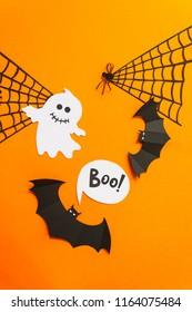 Happy Halloween. Halloween decor made of paper