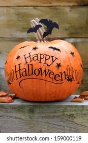 Happy Halloween pumpkin.