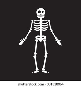 Happy Halloween skeleton illustration, zombie from bones and skull.
