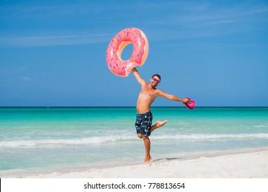 Funny Man Beach Images Stock Photos Vectors Shutterstock