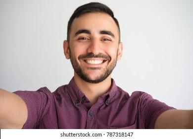 Happy Handsome Man Taking Selfie Photo